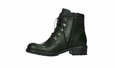 wolky lace up boots 04475 ronda 30730 forest green leather_12
