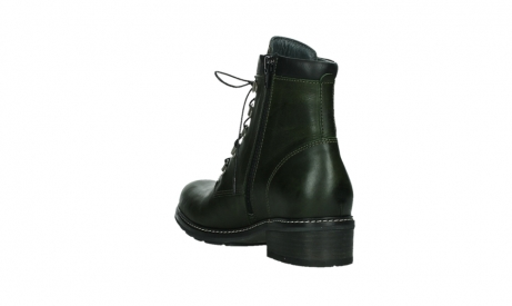 wolky lace up boots 04475 ronda 30730 forest green leather_17