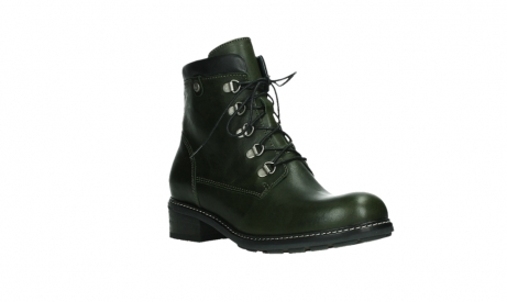 wolky lace up boots 04475 ronda 30730 forest green leather_4