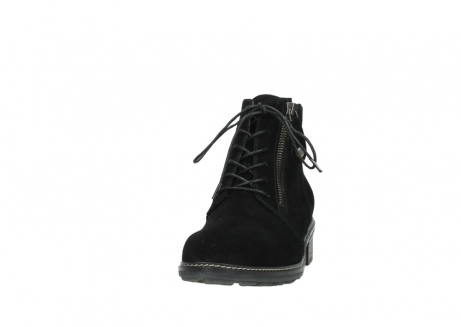 wolky lace up boots 04476 bunda 40000 black suede_20