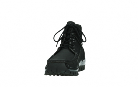 wolky lace up boots 04725 jump winter 14000 black palmmetal suede_8