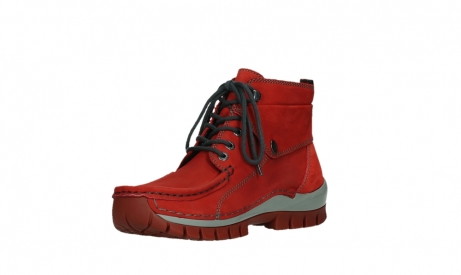 wolky lace up boots 04725 jump winter 50505 dark red oiled leather_10