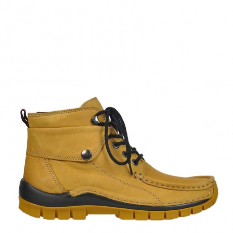 wolky lace up boots 04725 jump winter 50920 ocher leather