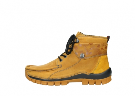 wolky bottines a lacets 04725 jump winter 59930 cuir jaune curry_1