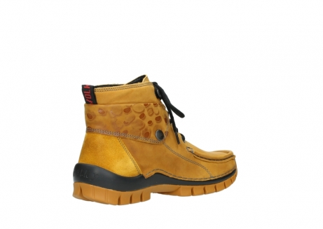 wolky bottines a lacets 04725 jump winter 59930 cuir jaune curry_10