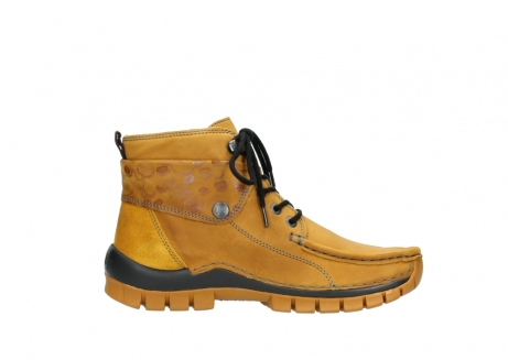 wolky bottines a lacets 04725 jump winter 59930 cuir jaune curry_13