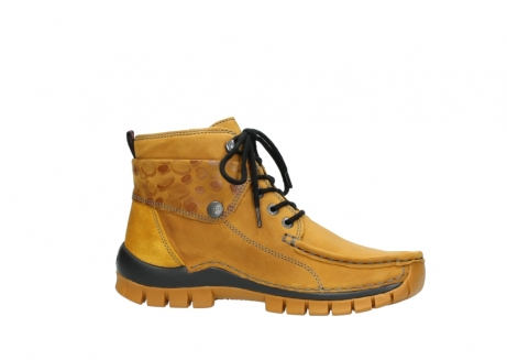 wolky bottines a lacets 04725 jump winter 59930 cuir jaune curry_14