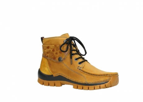 wolky bottines a lacets 04725 jump winter 59930 cuir jaune curry_15