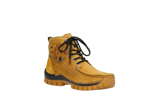 wolky bottines a lacets 04725 jump winter 59930 cuir jaune curry_16