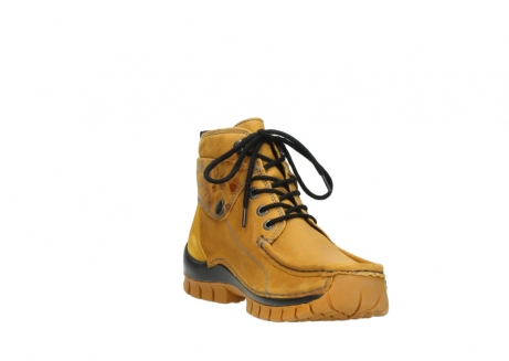 wolky bottines a lacets 04725 jump winter 59930 cuir jaune curry_17