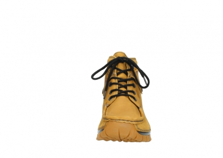 wolky bottines a lacets 04725 jump winter 59930 cuir jaune curry_19