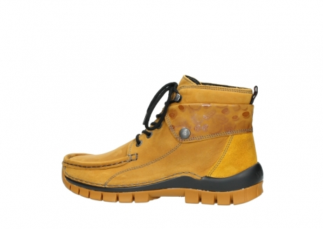 wolky bottines a lacets 04725 jump winter 59930 cuir jaune curry_2