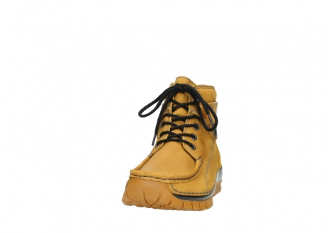 wolky bottines a lacets 04725 jump winter 59930 cuir jaune curry_20