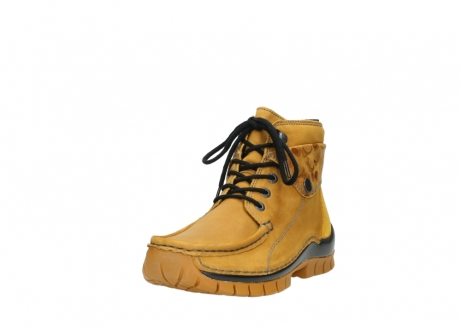 wolky bottines a lacets 04725 jump winter 59930 cuir jaune curry_21