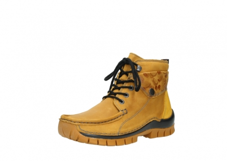 wolky bottines a lacets 04725 jump winter 59930 cuir jaune curry_22