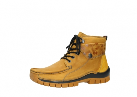 wolky bottines a lacets 04725 jump winter 59930 cuir jaune curry_23