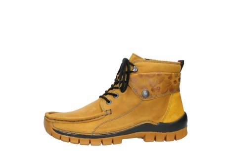 wolky bottines a lacets 04725 jump winter 59930 cuir jaune curry_24