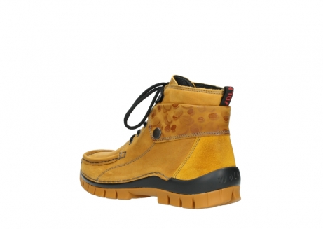 wolky bottines a lacets 04725 jump winter 59930 cuir jaune curry_4