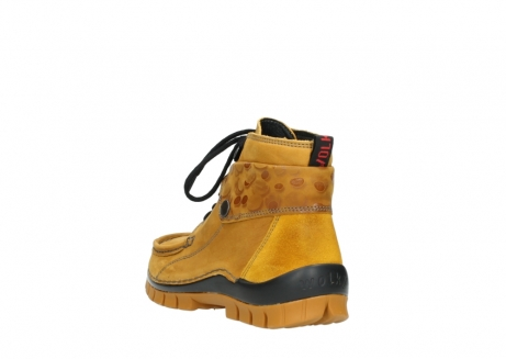 wolky bottines a lacets 04725 jump winter 59930 cuir jaune curry_5