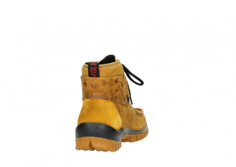wolky bottines a lacets 04725 jump winter 59930 cuir jaune curry_8
