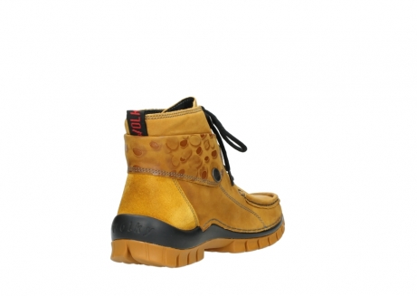 wolky bottines a lacets 04725 jump winter 59930 cuir jaune curry_9