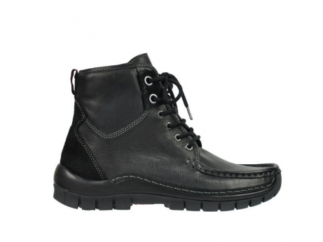 wolky veterboots 04727 dive winter 20000 zwart leer