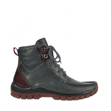 wolky bottines a lacets 04727 dive winter 20240 cuir anthracite bordeaux
