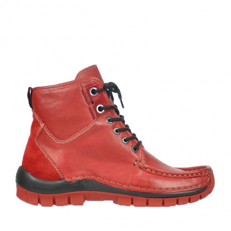wolky bottines a lacets 04727 dive winter 20500 cuir rouge