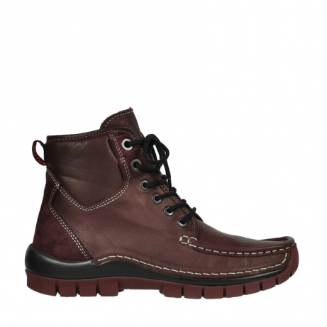 wolky bottines a lacets 04727 dive winter 20510 cuir bordeaux