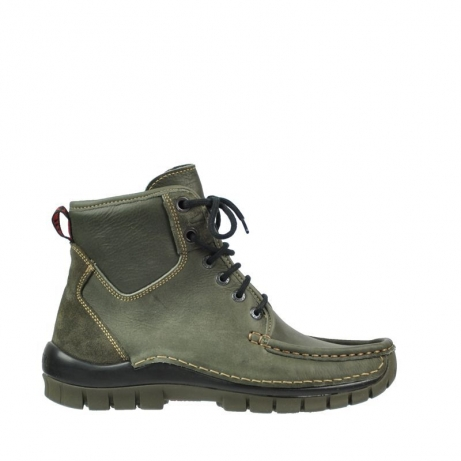 wolky bottines a lacets 04727 dive winter 20730 cuir vert