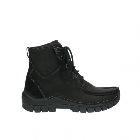 wolky lace up boots 04727 dive winter 50000 black oiled leather
