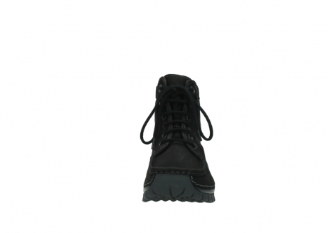 wolky lace up boots 04727 dive winter 50000 black oiled leather_19