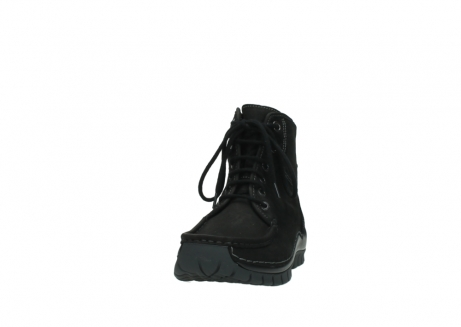 wolky lace up boots 04727 dive winter 50000 black oiled leather_20