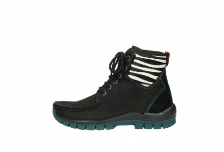 wolky lace up boots 04727 dive winter 50030 black green oiled leather_1