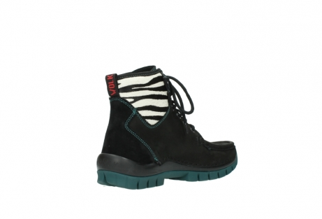 wolky lace up boots 04727 dive winter 50030 black green oiled leather_10