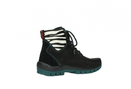 wolky lace up boots 04727 dive winter 50030 black green oiled leather_11