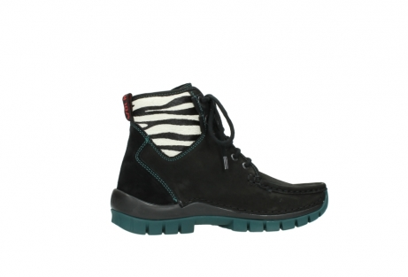 wolky lace up boots 04727 dive winter 50030 black green oiled leather_12