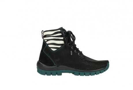 wolky lace up boots 04727 dive winter 50030 black green oiled leather_13