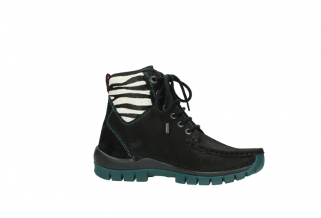 wolky lace up boots 04727 dive winter 50030 black green oiled leather_14