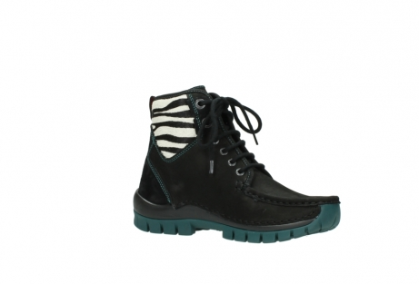 wolky lace up boots 04727 dive winter 50030 black green oiled leather_15