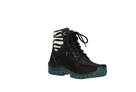 wolky lace up boots 04727 dive winter 50030 black green oiled leather_16