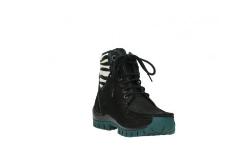 wolky lace up boots 04727 dive winter 50030 black green oiled leather_17