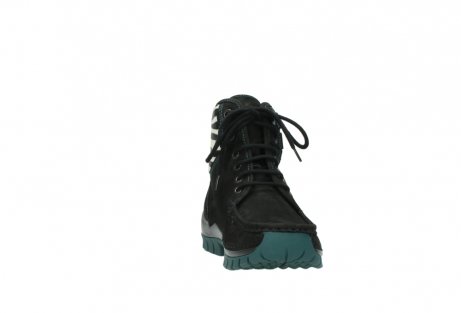 wolky lace up boots 04727 dive winter 50030 black green oiled leather_18
