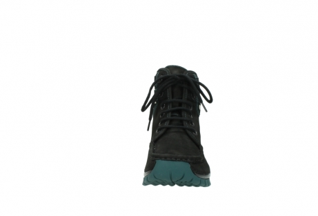 wolky lace up boots 04727 dive winter 50030 black green oiled leather_19