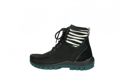wolky lace up boots 04727 dive winter 50030 black green oiled leather_2