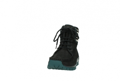 wolky lace up boots 04727 dive winter 50030 black green oiled leather_20
