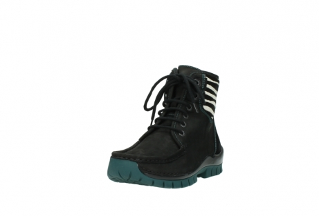 wolky lace up boots 04727 dive winter 50030 black green oiled leather_21