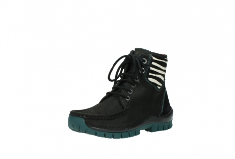 wolky lace up boots 04727 dive winter 50030 black green oiled leather_22