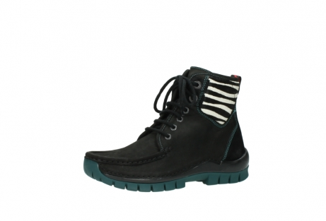 wolky lace up boots 04727 dive winter 50030 black green oiled leather_23