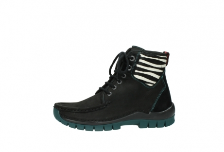 wolky lace up boots 04727 dive winter 50030 black green oiled leather_24